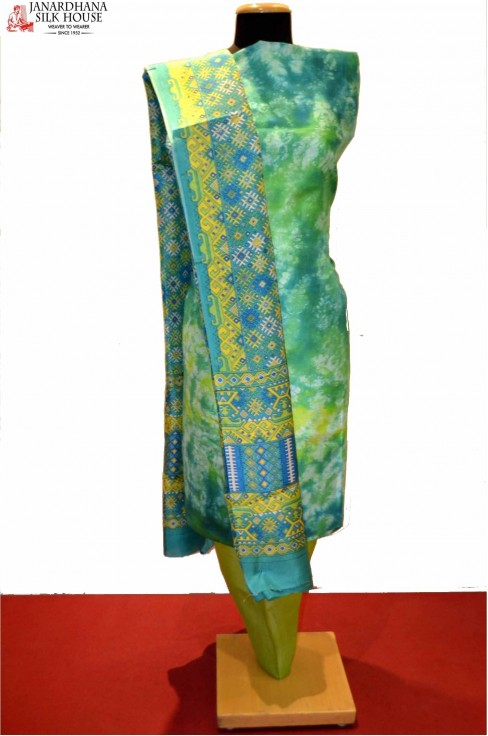 Abstract Printed Pure Silk Sui..