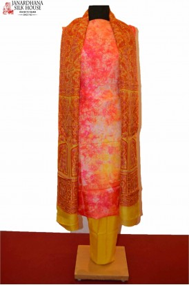 Abstract Exclusive Unstitched Pure Silk Suit