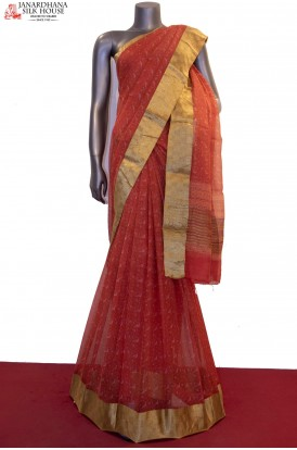 Party Wear Exclusive Prints Pure Silk Chiffon Saree