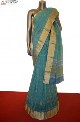 Party Wear Pure Silk Chiffon Saree With Fancy Zari Border
