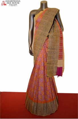Stylish Pure Tussar  Silk Saree