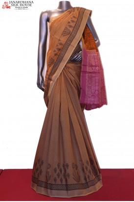 AC208616-Designer Printed Pure Tussar Silk Saree
