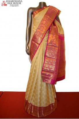 Designer & Grand Contrast Kanjeevaram Silk Saree