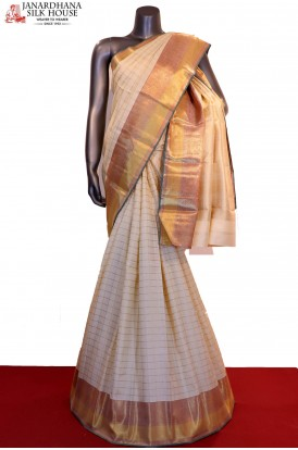 Bridal Exclusive Grand Zari Checks Handloom Kanjeevaram Silk Saree
