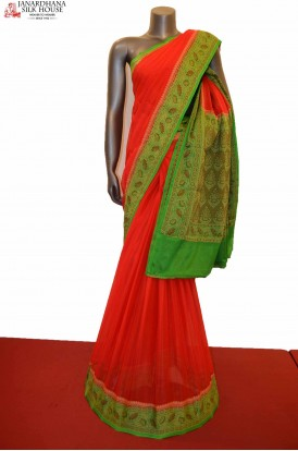 Special Thread Weaving Pure Crepe Silk Saree