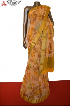 Floral Pure Georgette Silk Saree