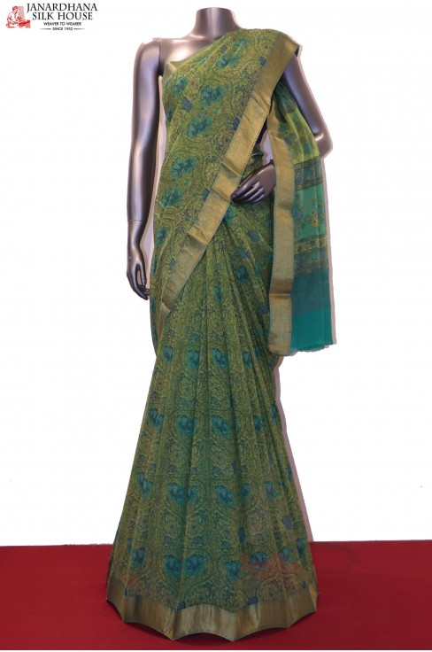 Exclusive Floral Pure Silk Chf..