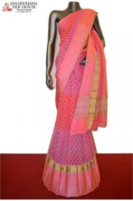 Party Wear Pure Silk Chiffon With Satin Border