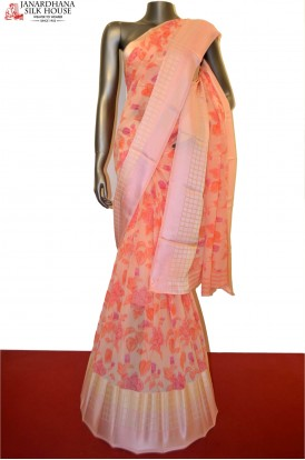Designer Pure Georgette Silk Saree With Satin Border