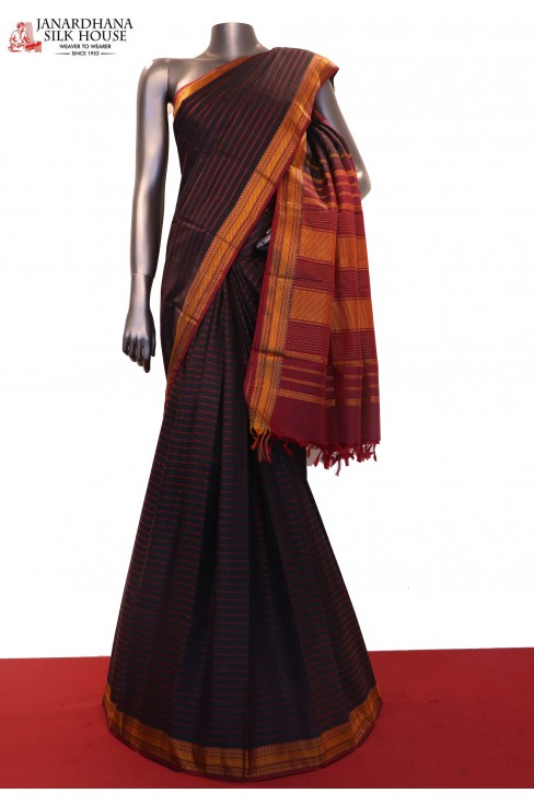 Veldhari Thread Weave Kanjeevaram Silk Saree