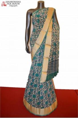 Floral Classic Heavy Pure Crepe Silk Saree