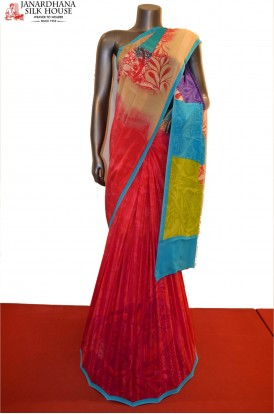 Exclusive Abstract Pure Printed Crepe Silk Saree