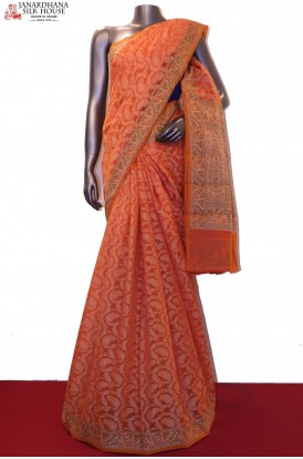 Handloom Pure Banarasi Cotton Saree