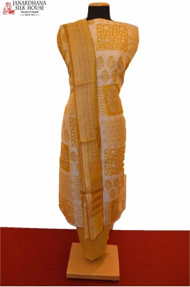 Exclusive Ikat Dupatta Printed Pure Tussar Silk Suit