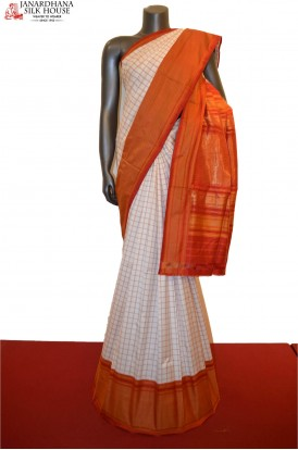 Classic Checks Ikat Patola Silk Saree