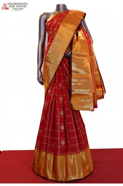 AD210774-Exclusive & Grand Bridal Handloom Kanjeevaram Silk Saree