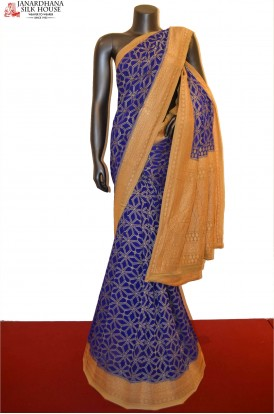 Handloom Grand Banarasi Khaddi Georgette Silk Saree