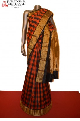Classic Checks Pure South Silk Saree