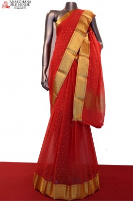 Exclusive Zari Motif Fancy Pure Silk Chffion