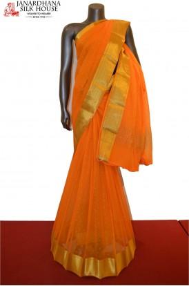 Classic Zari Butta Special Pure Silk Chiffon