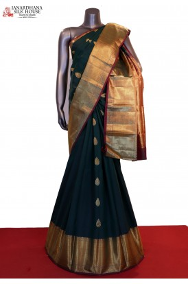 Grand Wedding Handloom Kanjeevaram Silk Saree