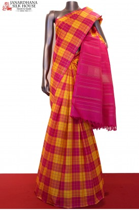 Checks Classic Kanjeevaram Silk Saree