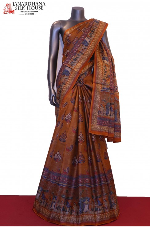 Exclusive Handloom Printed Pur..
