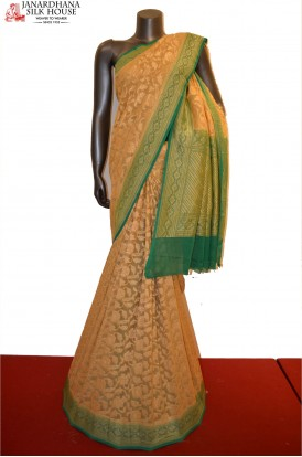 Floral Zari Grand Banarasi Georgette Silk Saree