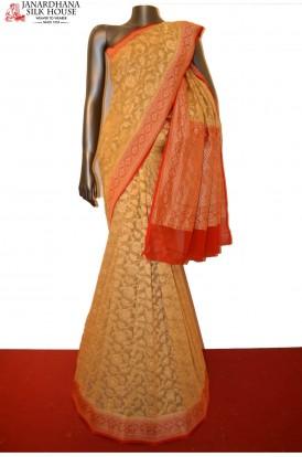 Special Floral Zari Grand Banarasi Georgette Silk Saree