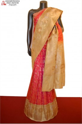 Grand and Contrast Designer Pure Banarasi Silk Saree