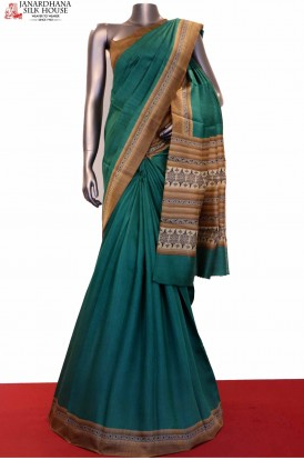 Party Wear Printed Pure Tussar Pure Silk Saree