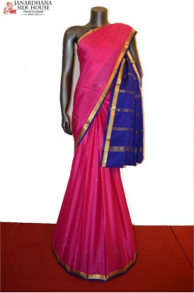 Traditional Pure Mysore Crepe Silk Saree