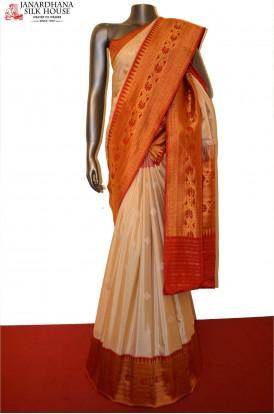 Classic Contrast Special Grand Banarasi Silk Saree