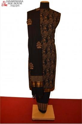 AD212398-Party Wear Exclusive Unstitched Pure Cotton Suit