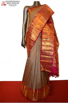 Grand Wedding Contrast Special Kanjeevaram Silk Saree