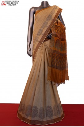 Classic Printed Pure Tussar Silk Saree