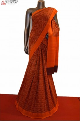 Exclusive Classic  Pure Printed Crepe Silk Saree