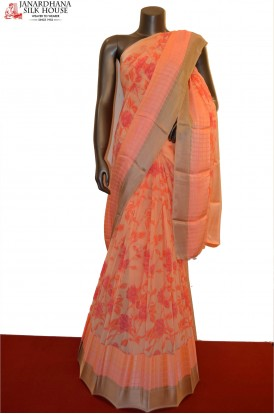 Exclusive Pure Georgette Silk Saree With Satin Border