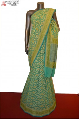 Exclusive Grand Khaddi Banarasi Georgette Silk Saree