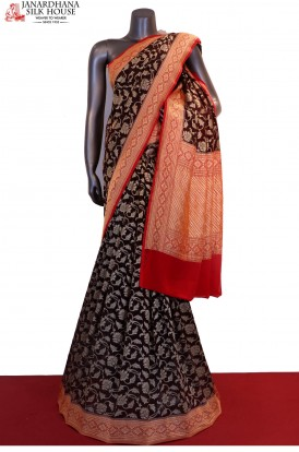 Designer & Exclusive Banarasi Georgette Silk Saree