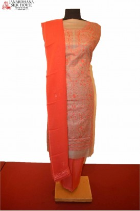Exclusive Party Wear Pure Silk Suit