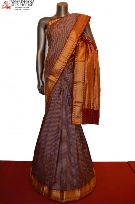 Traditional & Classic Checks Pure South Silk Saree
