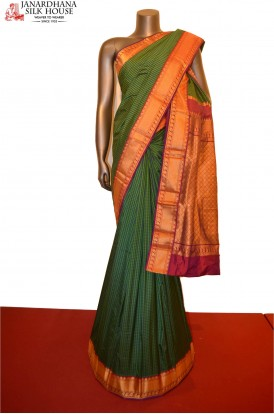 Traditional and Classic Checks Pure South Silk Saree