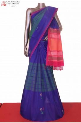 Designer Thread Weave Silk Cotton Saree