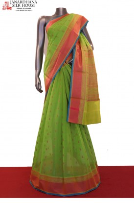 Exclusive & Traditional Thread Weave Pure Silk Cotton Saree