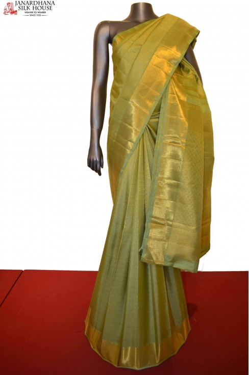 Charkram & Peacock Grand Bridal Kanjeevaram Silk Saree