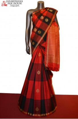 Exclusive Thread Weave Kanjeevaram Silk Saree