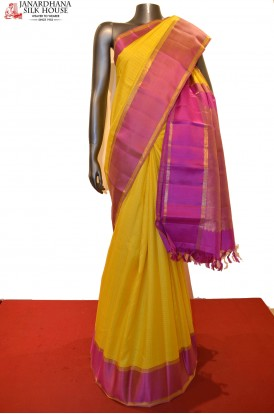 Zari Checks & Contrast Classic Wedding Kanjeevaram Silk Saree