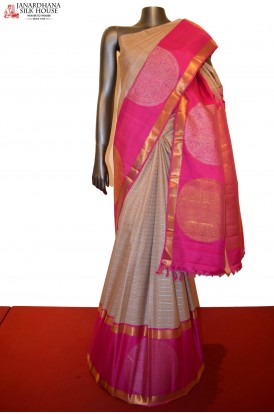 Contemporary Grand Chakram Zari Checks Special Kanjeevaram