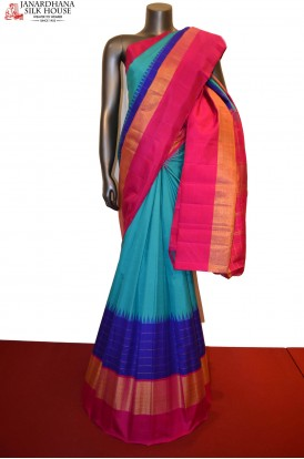 Temple & Tissue Handloom Kanjeevaram Silk Saree